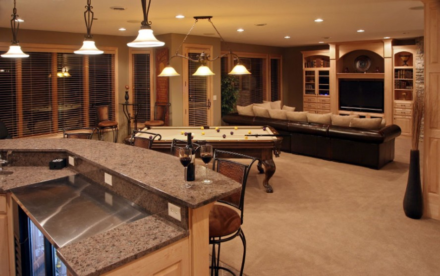 mid-century-basement-design-for-basement