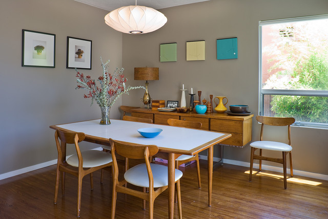 mid century modern dining room table | 20 Outstanding Midcentury Dining Design ideas