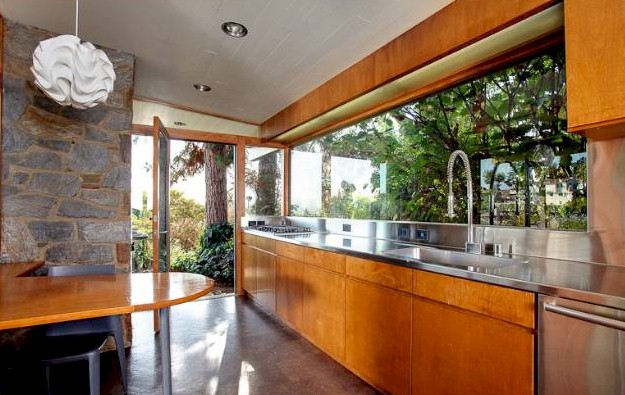 mid-century-modern-galley-kitchen