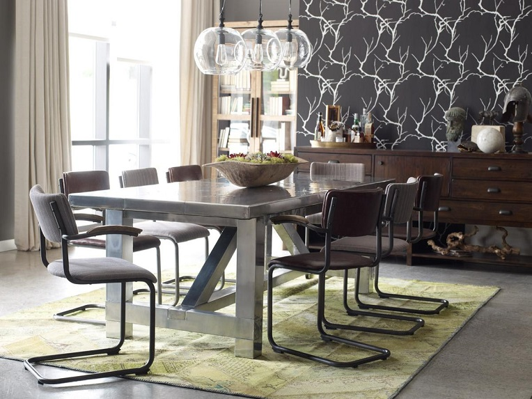 modern chic dining room | 20 stunning Industrial Dining Design
