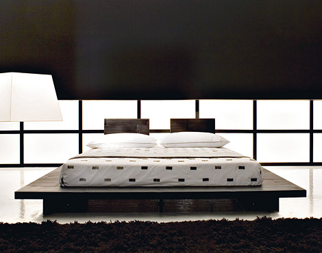 modern low platform beds
