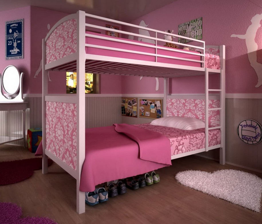 modern-mid-century-girl-bedrooms-design