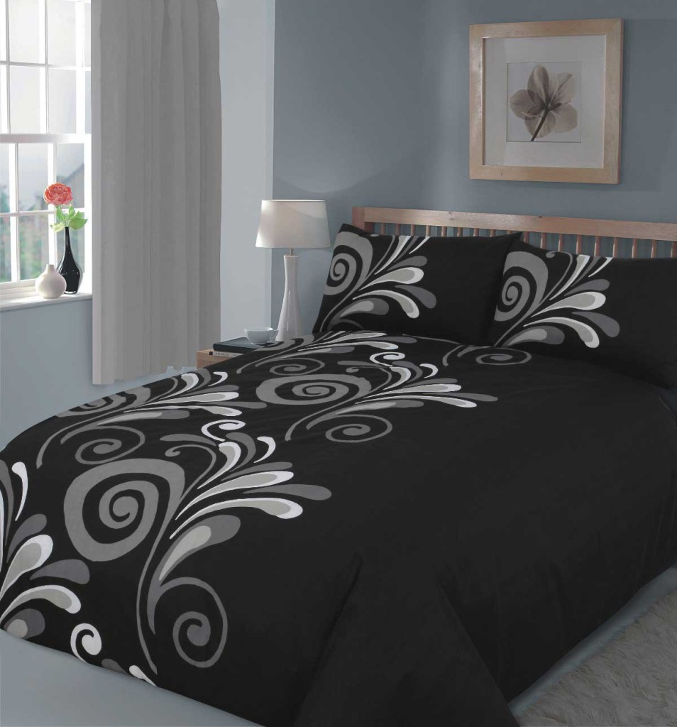 nice-cool-bed-sets-with-bedroom-cool-comfortable-bed-set-design-ideas-with-stylish-black-bed