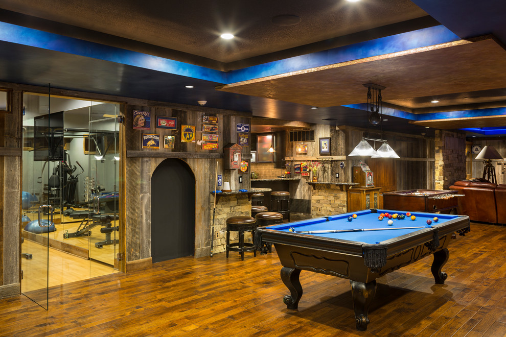 rustic-basement-ceiling-ideas