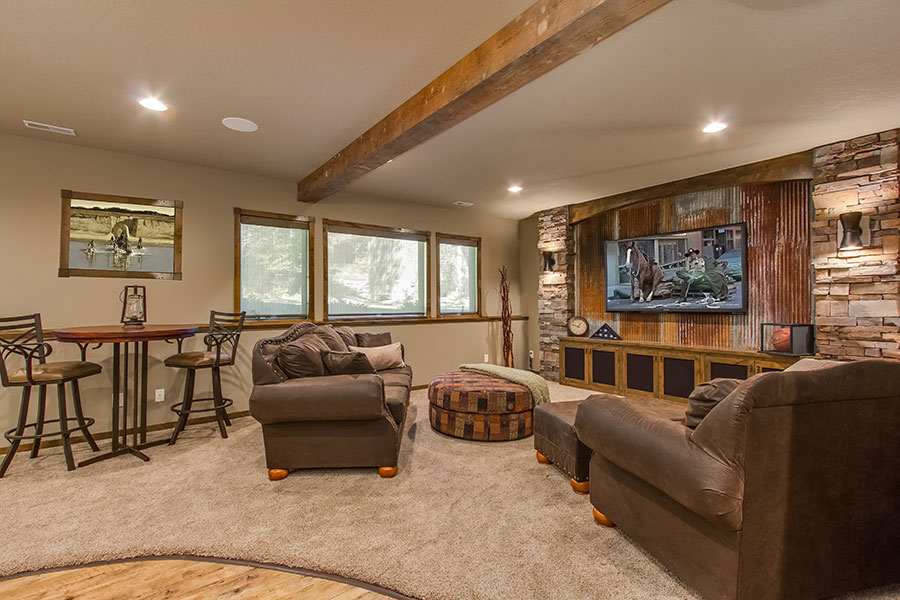 finished basement ideas 15 outstanding rustic basement design 30182