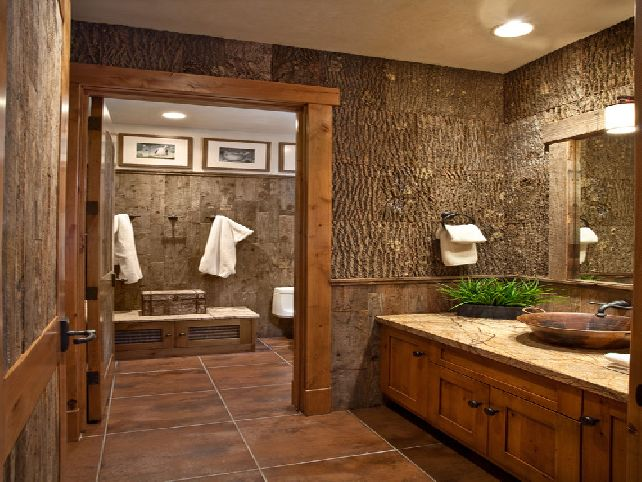 20 Marvelous Rustic Bathroom Design