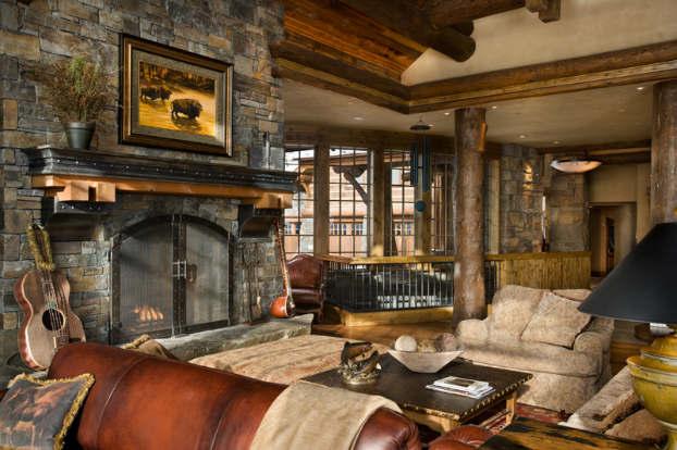 rustic-living-room-decorating-idea-