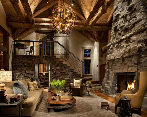 Rustic decor ideas living room design ideas for Rustic decor ideas
