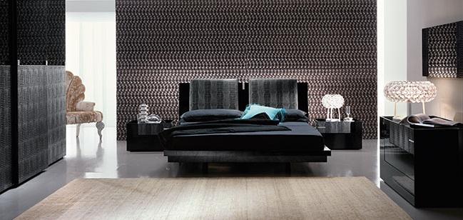 set-black-platform bed