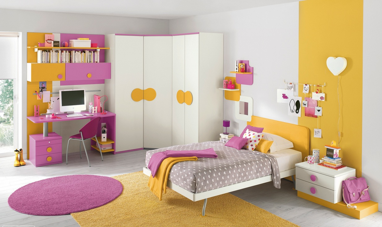 bedroom design for kids. Simple-kids-bedroom-of-green-home-kids-room- Bedroom Design For Kids