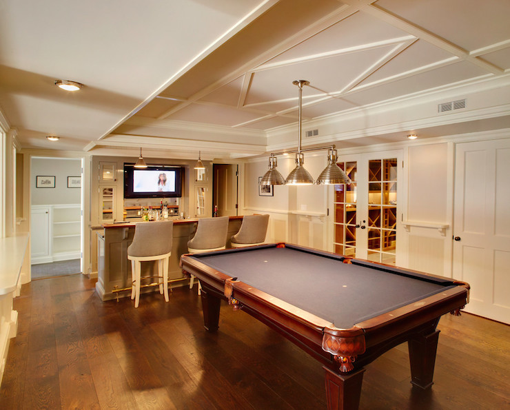 stunning Transitional_Basement_Design