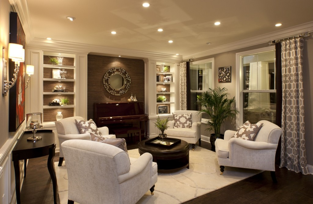 Stylish Transitional Home Living Room Robeson Design _