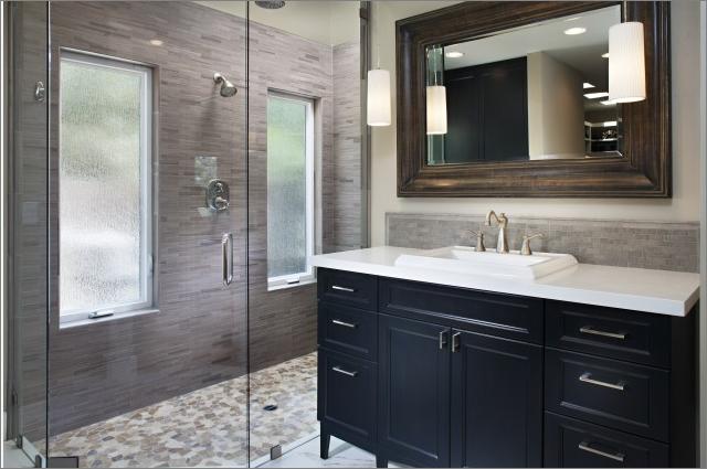 transitional bathroom designs-