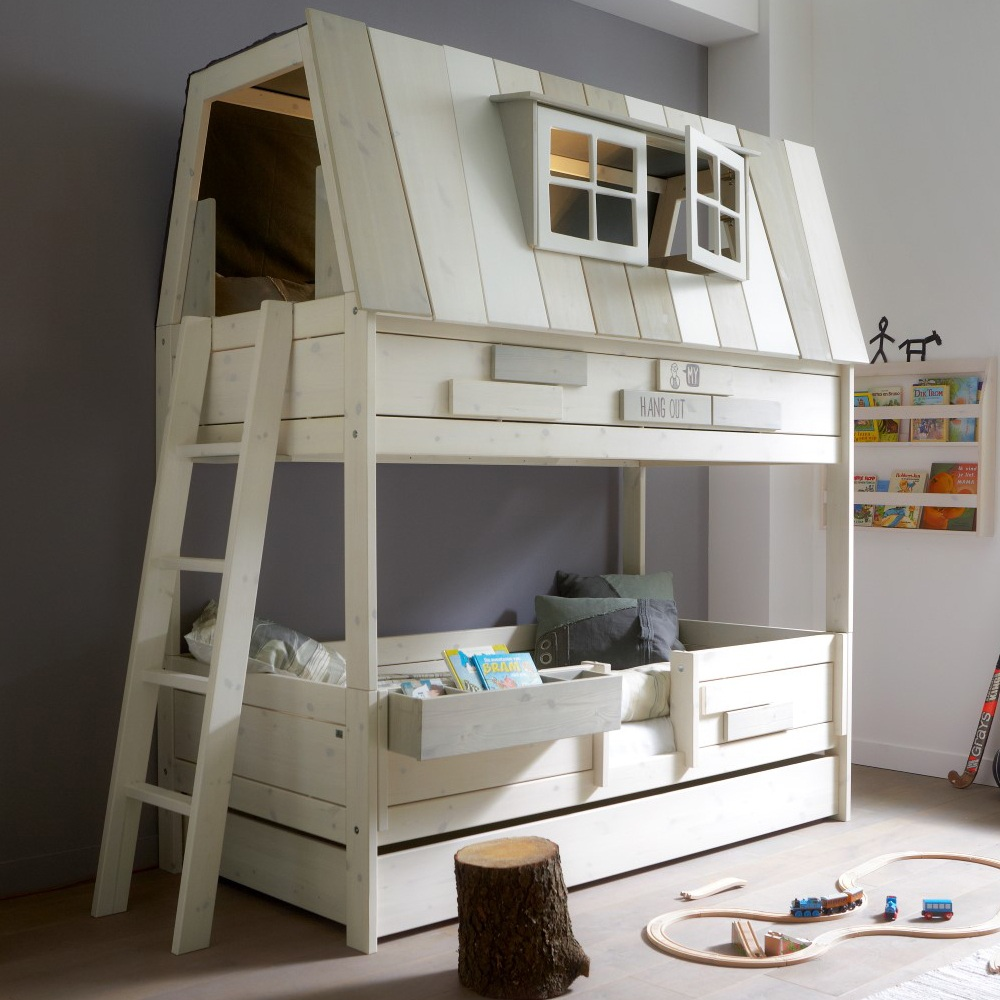 unusual kids bunk bed with house shaped plus - Kids Bedroom Designs
