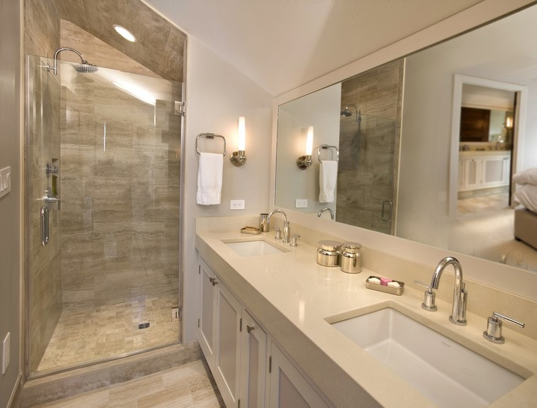 w design portfolio interiors transitional bathroom - Transitional Bathroom Ideas