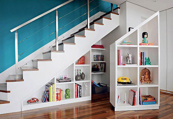 Captivating 8 Understairs Bookshelf