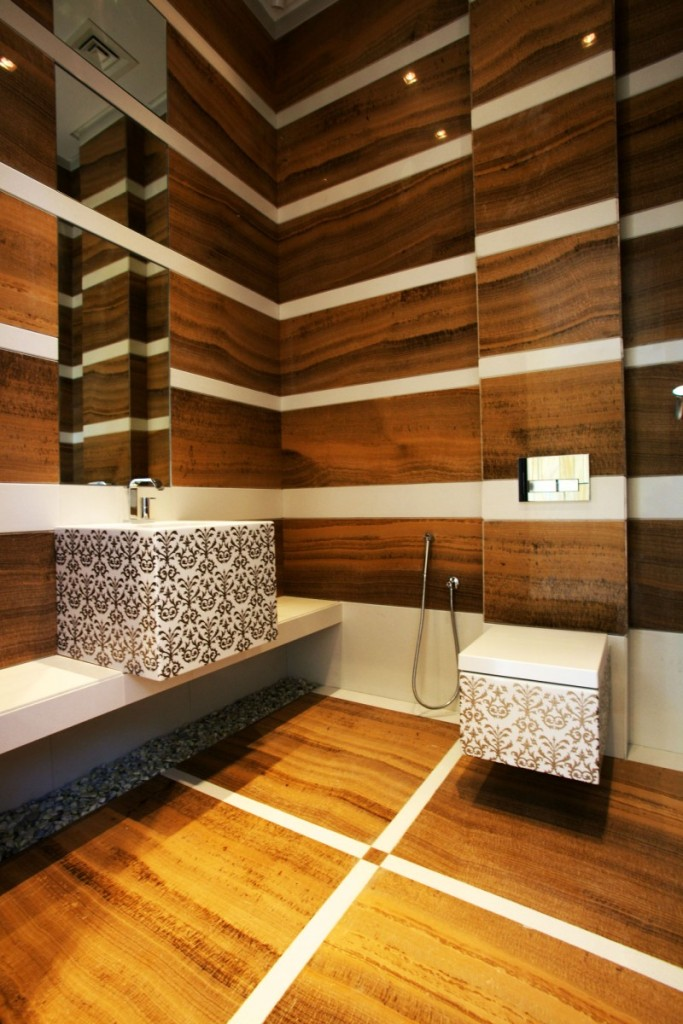 Admiral-Bathroom-Remodel-with-Wood-Wall-Paneling-Design-using-Lights-Bathroom