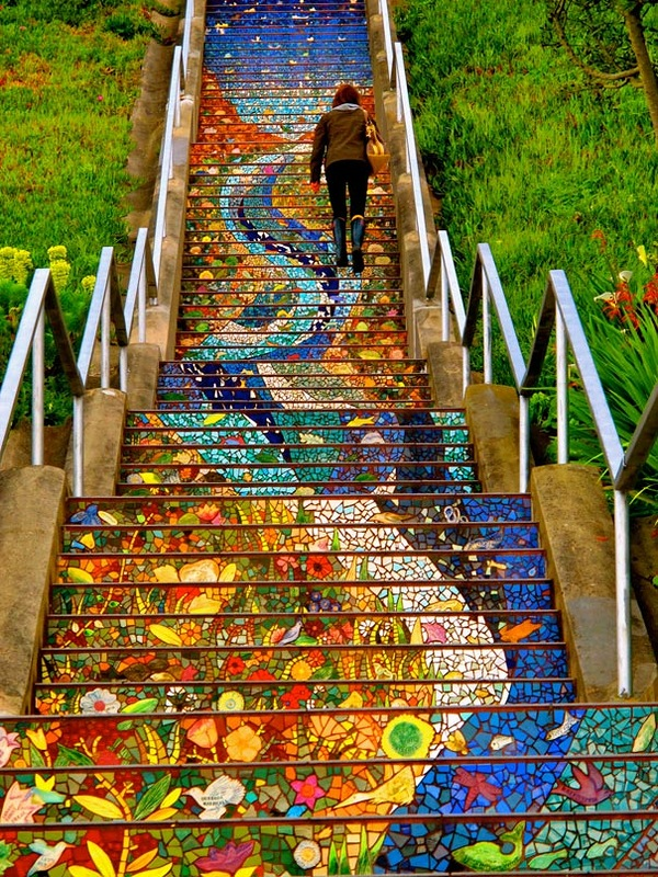 Beautiful-Unique-Colorful-Stairs