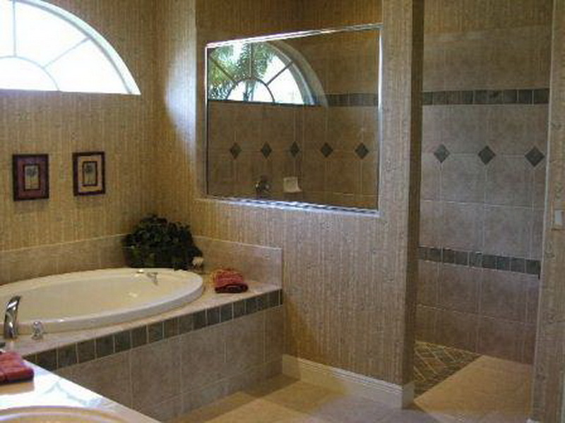 Cool Doorless Walk In Shower Designs. Couple Bathroom