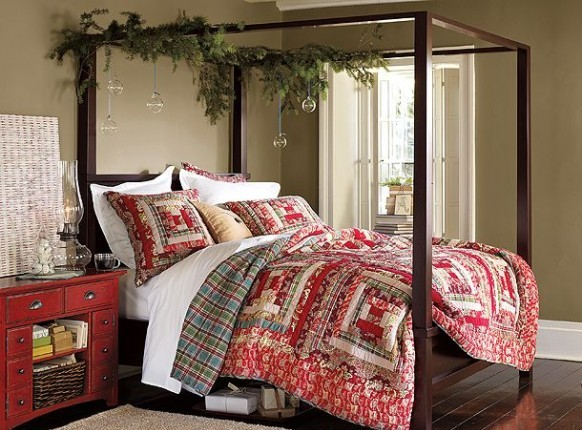 Cute-Christmas-Bedroom-Decorating-Ideas