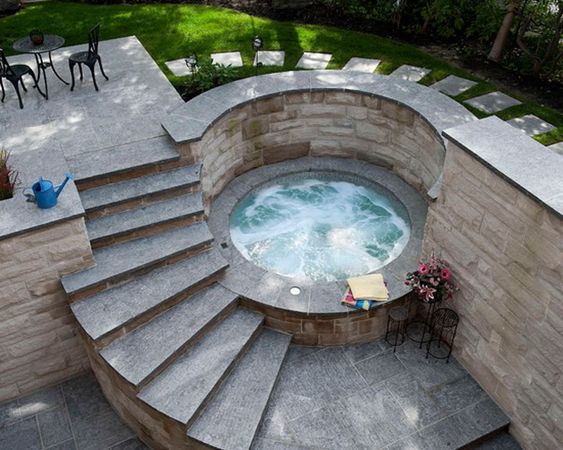 Great Ideas For Hot Tub Jacuzzi Decoration