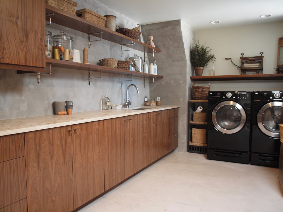Impressive-Shelving-Brackets-convention-Chicago-Contemporary-Laundry-Room