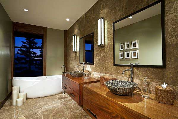 Marble Bathroom Ideas To Create A Luxurious Scheme: 25 Luxurious Wooden Bathroom Design Ideas