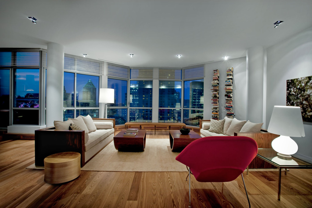 cool modern luxury penthouse living room | 25 Modern Penthouse Design Inspiration