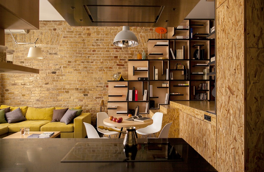 Modern-Living-Room-with-Brick-Walls