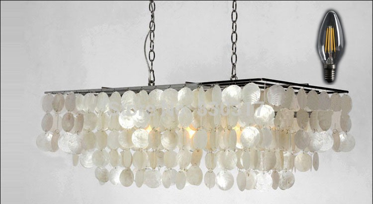 Pendant-Light-Shell-LED-Hanging-Lamp-