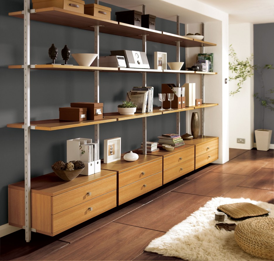 20 beautiful modular shelving systems. Black Bedroom Furniture Sets. Home Design Ideas