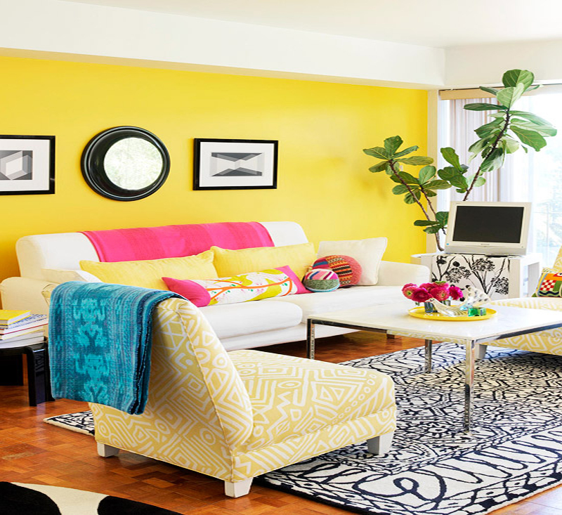 Vibrant-Yellow-Living-Room-at-Awesome-Colorful-Living-Room-Design-Ideas