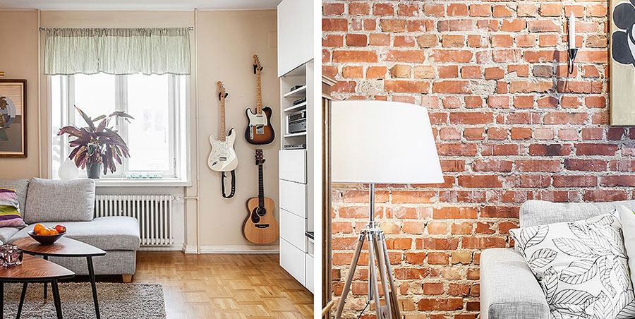 21 beautiful brick wall designs for Interior brick wall designs