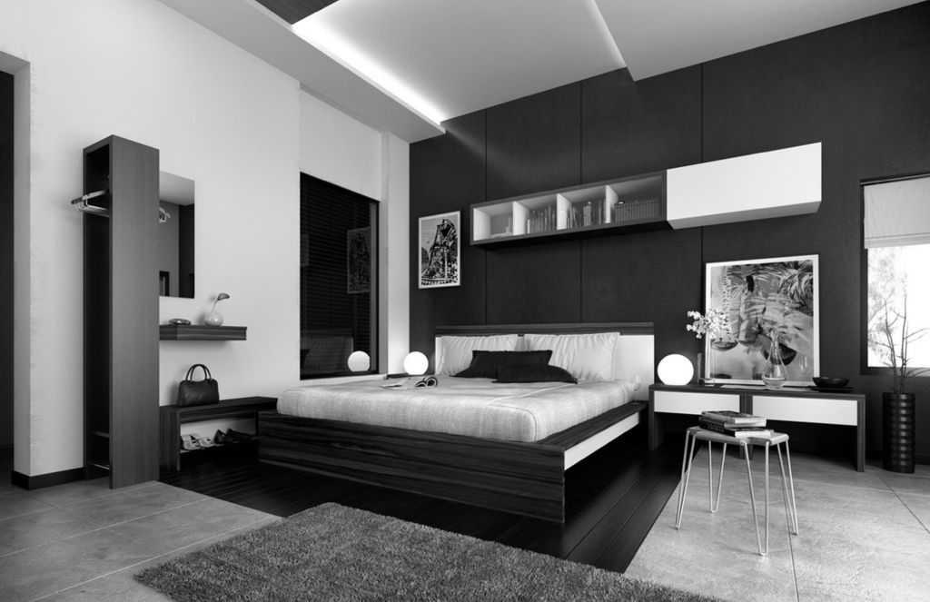 -arresting-black-white-bedroom-contemporary