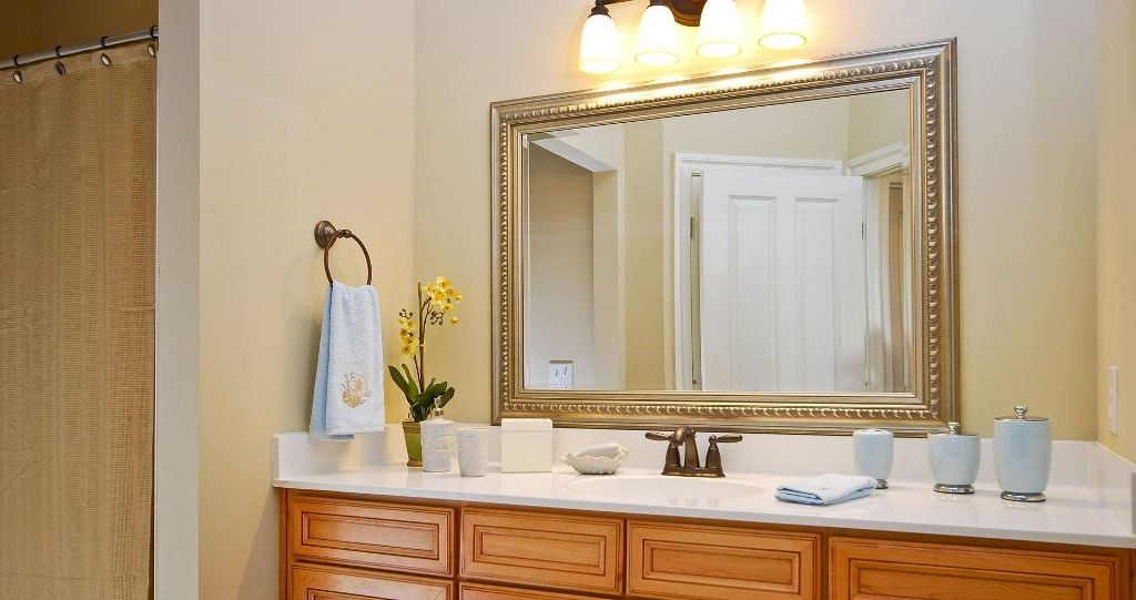 bathroom-mirror-frames-within-exquisite-dark-brown-finished-bathroom-mirrors-frame-with