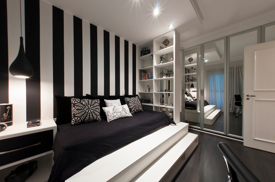 Black And White Bedroom Wall Ideas