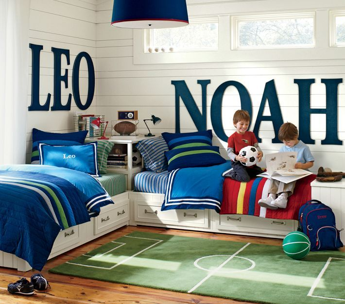 Shared Boys Bedroom Storage: 25 Awesome Shared Bedroom Ideas For Kids