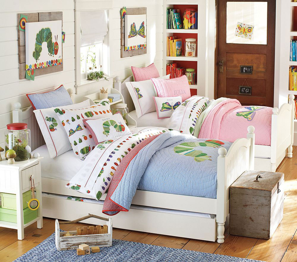 25 awesome shared bedroom ideas for kids for Ideas for small bedrooms for kids