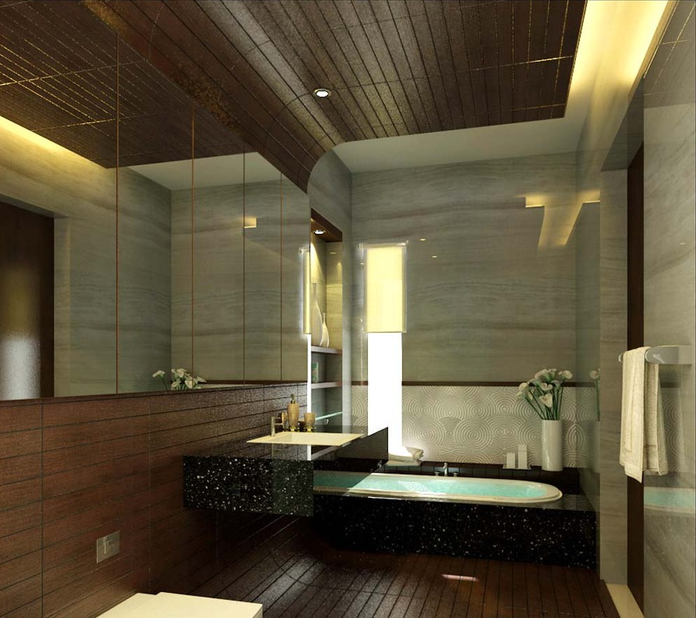 comfortable-wooden-bathroom-decoration