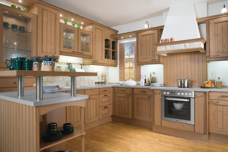 Country Kitchen Designs From Bauformat Light Wood Kitchen