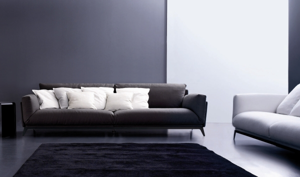 18 sophisticated italian sofa designs. Black Bedroom Furniture Sets. Home Design Ideas