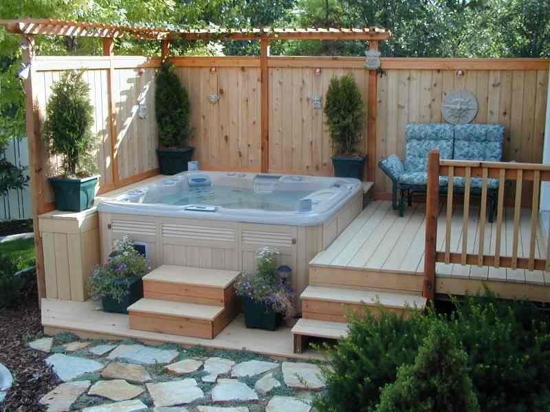 exquisite outdoor hot tub - Hot Tub Design Ideas