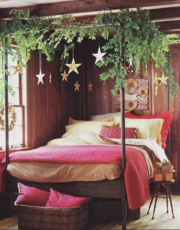 inspiring christmas bedroom decorating ideas - Christmas Bedroom Decor Ideas