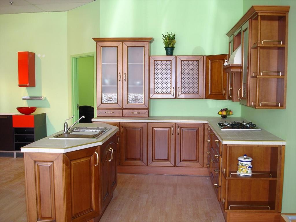 kitchen-with-wood-cabinets-cheerful-classic-italian-kitchen-with-wood