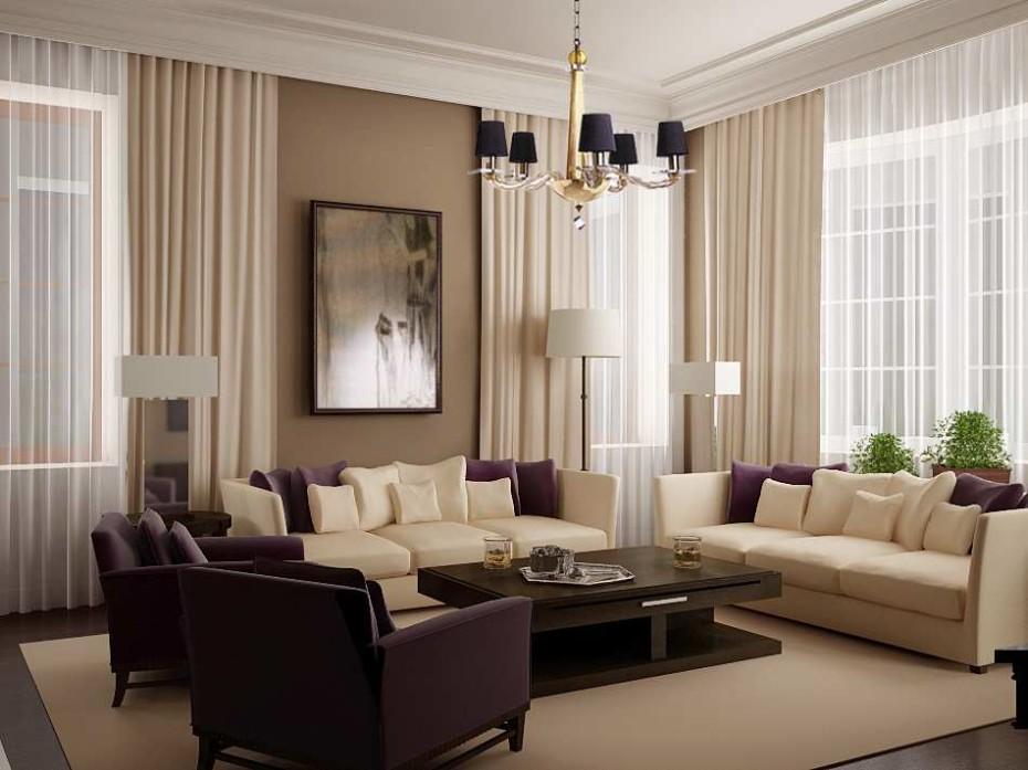 Modern Living Room Curtains Design Ideas