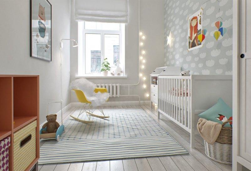 lovely and light scandinavian style babys nursery design