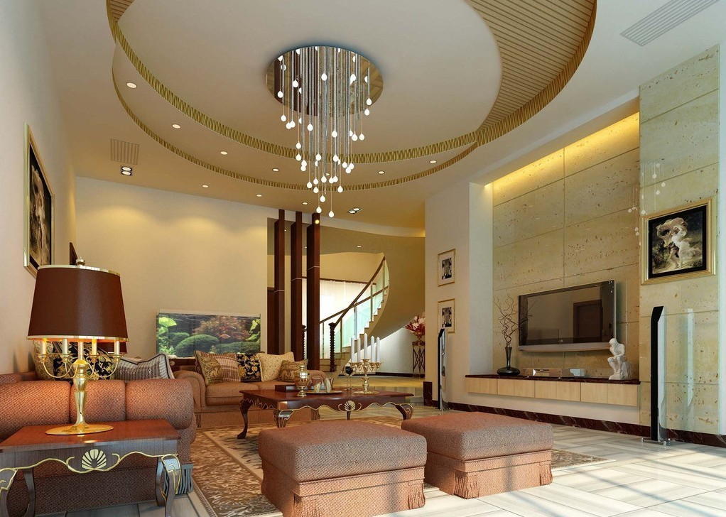 Modern Pop False Ceiling For Living Room With