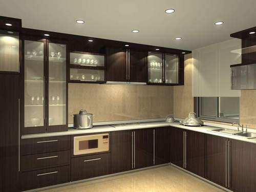 Modular Kitchen Design Ideas With Modular Kitchen Shelves Designs.