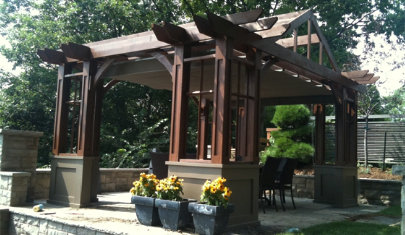 Design For Pergola Attached To House