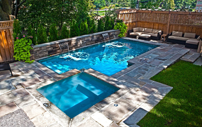 Picturesque Small Backyard Pool Designs